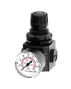 Reduceerventiel ¾'' BSP (FF). Met drukmeter