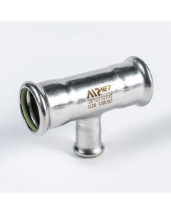 Airnet RVS 316 verloop T-stuk Ø 28 x 15 x Ø 28 mm