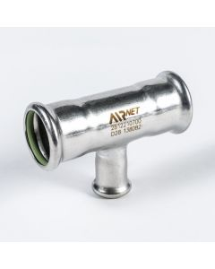 Airnet RVS 316 verloop T-stuk Ø 76 x 54 x Ø 76mm