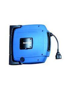 Nederman haspel C20, kbl. 12m.+stekker 3x1.5mm² 250V-10A