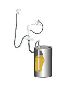 PumpMaster 4 - 5:1 oliepompset voor 205l wandmontage